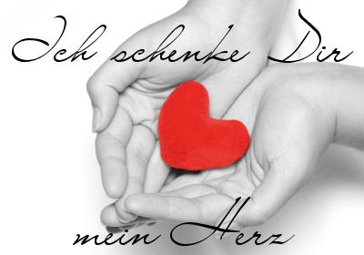 Digital Postcard: Bild: Ich schenke Dir mein Herz